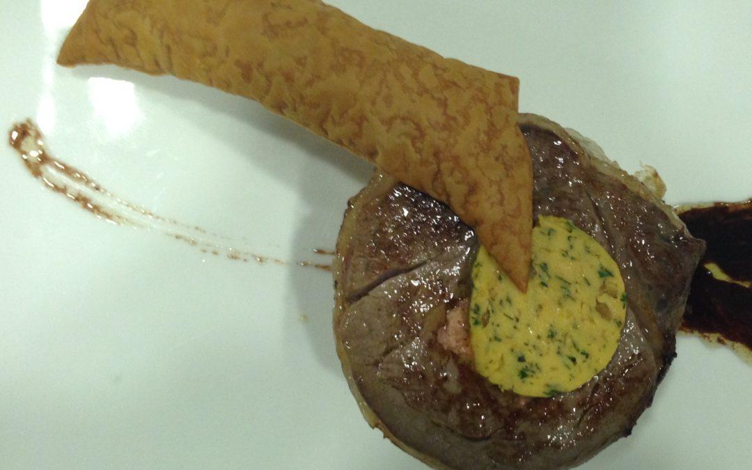 Filet de vedella amb foie amb mantega Café de Paris